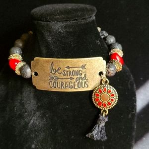 Be Courageous and Strong! Aromatherapy Bracelet